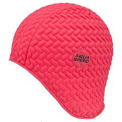 Шапочка для плавания Aqua Speed Bombastic Tic-Tac Коралловая (aqs212)