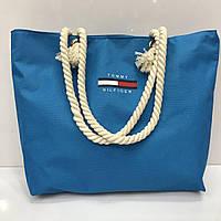 Пляжная сумка TH 2396 женская текстильная ручки канаты 42 см х 33 см х 15 см копия