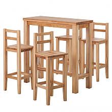 Стол барный и стулья 002