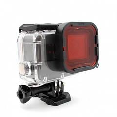 Telesin красный подводный фильтр на Supersuit корпус GoPro HERO7, HERO6 и HERO5 Black