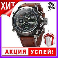 Стильные мужские наручные армейские часы AMST + ПОДАРОК