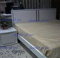 Кровать с мягким изголовьем и подсветкой Dama Bianco Rombi 1,8х2 м белый Modum от Camelgroup