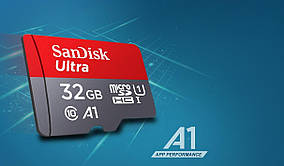 Карта памяти SanDisk Ultra A1 microSDHC UHS-I 32GB Class 10 (SDSQUNC-032G-ZN3MN), фото 2