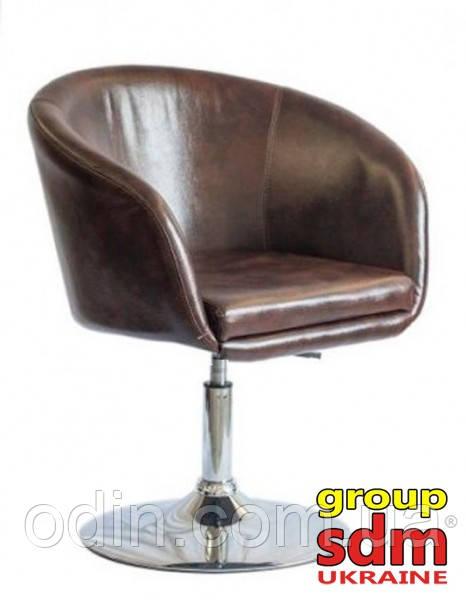 Кресло Мурат НЬЮ, мягкое сиденье, хром, цвет темно-коричневый MURATBRA
