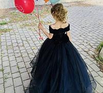 Бархатное детское платье, фото 4