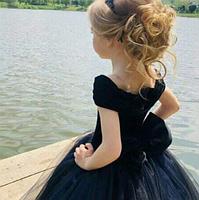 Бархатное детское платье, фото 3