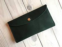 Женское кожаное портмоне Goose™ G0012 зеленый (тревел-кейс, кошелек)