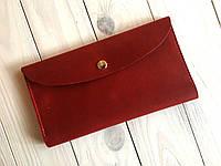 Портмоне кожаное женское Goose™ G0014 натуральная кожа красный (кошелек, тревел-кейс)