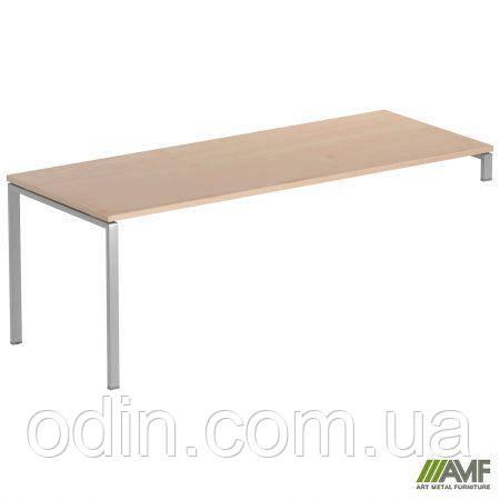 Стол руководителя SIG 120 1800х800х750мм Клен Танзау 60х30 Алюм 179804