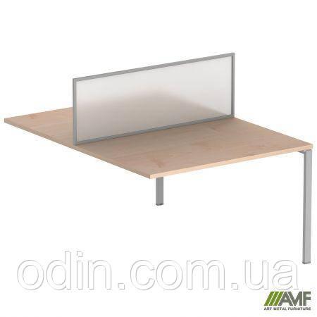 Стол прямой SIG 117 1600x1600x750мм Клен Танзау 60х30 Алюм 179756