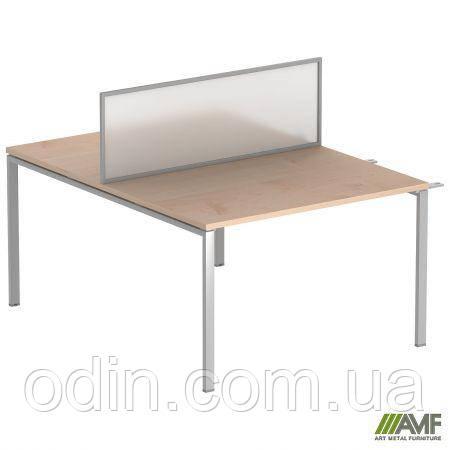 Стол прямой SIG 116 1400x1600x750мм Клен Танзау 60х30 Алюм 179720