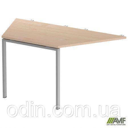 Стол сегмент SIG 114 1600х800х750мм Клен Танзау 60х30 Алюм 179684