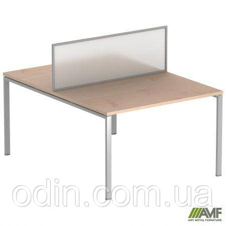 Стол прямой SIG 115 1600x1600x750мм Клен Танзау 60х30 Алюм 179708