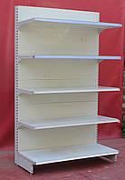 Торгові односторонні (пристінні) стелажі «Інтрак» 210х125 див., світло-сірий, Б/у, фото 1