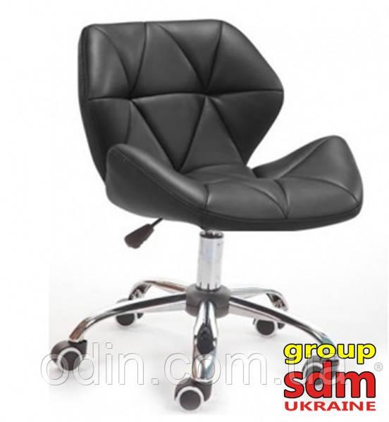 Крісло Нью Стар, м'яке, хромоване, колір чорний starnewbl