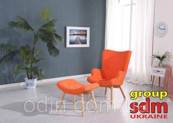 Кресло Флорино с табуреткой, пуфом, цвет оранжевый FLOROR-FLOROROtt