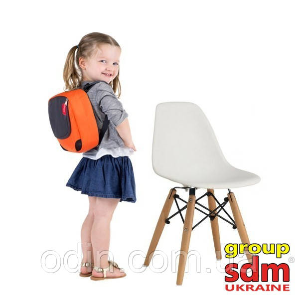 Дитячий стілець Тауер Вaby, пластиковий, ніжки дерево бук, колір білий BabyTWWh