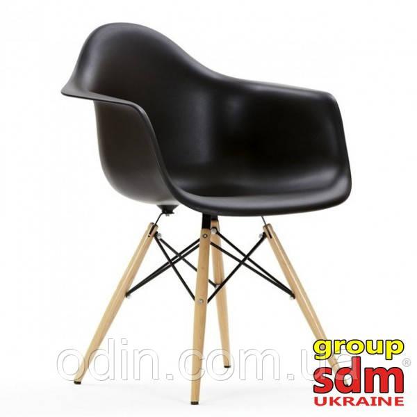 Кресло Тауэр Вуд, основание дерево бук, пластиковое сиденье, цвет черный SDM18WBL
