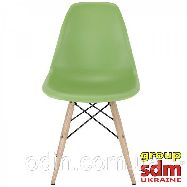 Стул Тауэр Вуд, пластиковый, ножки дерево бук, цвет зеленый SDM16WGR
