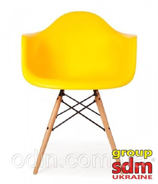 Кресло Тауэр Вуд, деревянный, бук, сиденье пластик, цвет желтый SDM18WYEL