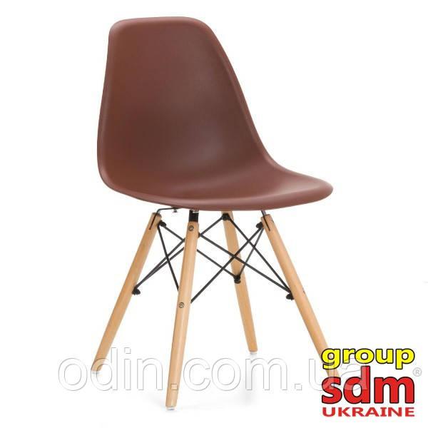Стул Тауэр Вуд, пластик, ножки дерево бук, цвет коричневый SDM16WBr