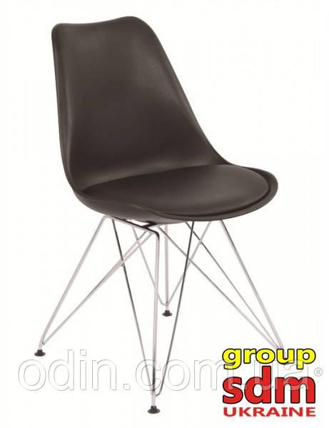 Стул Тауэр C, пластиковый, подушка кожзам, цвет черный Т133Bl