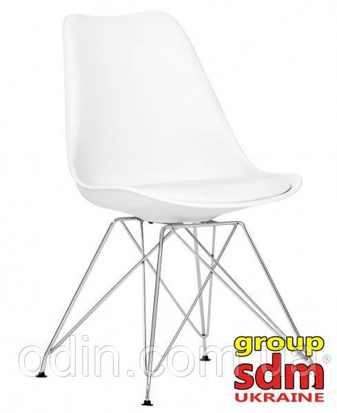 Стул Тауэр C, пластиковый с подушкой, цвет белый Т133WH