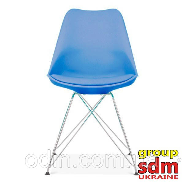 Стул Тауэр C, пластиковый с подушкой, цвет голубой Т133 Blue