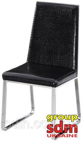 Стілець Беккі, метал, чорний кожзам 0020340BL
