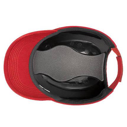Каска - бейсболка (каскетка) защитная Duiker красная, фото 2