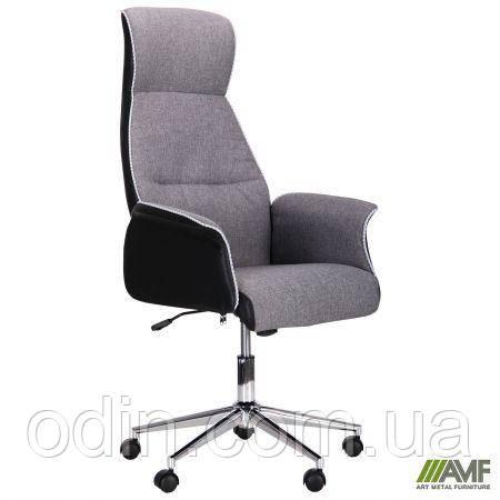 Кресло Brooklyn хром Светло-серый, черный 521178