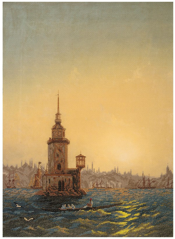 Набір для вишивки хрестом Panna «Вид Леандрової вежі в Константинополі»