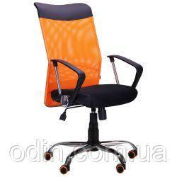 Кресло АЭРО HB Line Color сиденье Сетка чёрная,Неаполь N-20/спинка Сетка оранжевая, вст.Неаполь N-20 271496