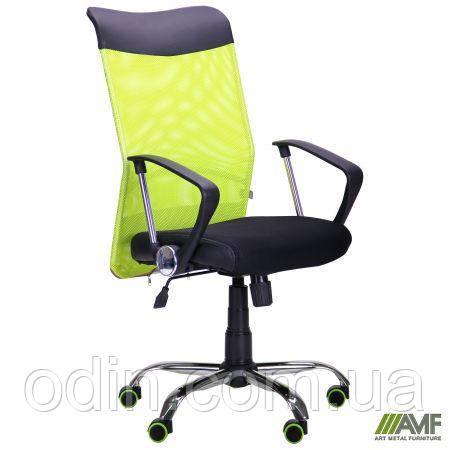 Кресло АЭРО HB Line Color сиденье Сетка чёрная,Неаполь N-20/спинка Сетка салатовая, вст.Неаполь N-20 271495
