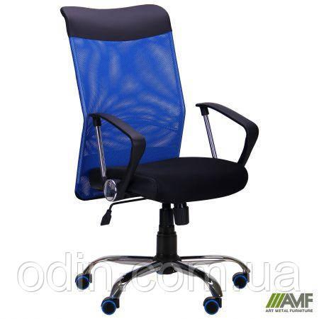 Крісло АЕРО HB Line Color сидіння Сітка чорна,Неаполь N-20/спинка Сітка синя, вставка Неаполь N-20 271498