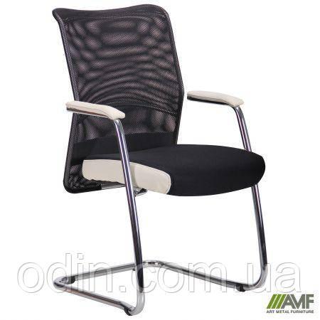 Кресло Аэро CF хром сиденье сетка Черная, Неаполь N-50/Спинка сетка черная/подлокотники Неаполь N-50 290969