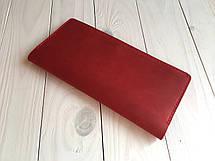 Шкіряний тревел-кейс для авіаквитків Goose™ G0016 червоний (портмоне), фото 2