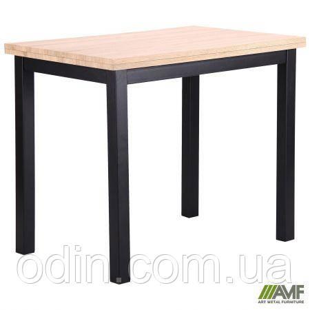 Стол обеденный раскладной Кадис DT-1612 черный/МДФ дуб Сонома 521251