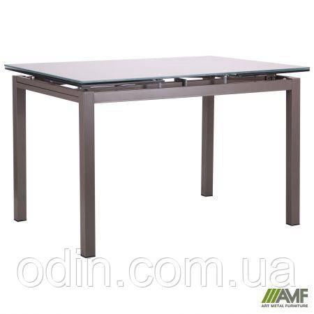 Стол обеденный раскладной Мишель B179-34 серый/стекло платина 521256