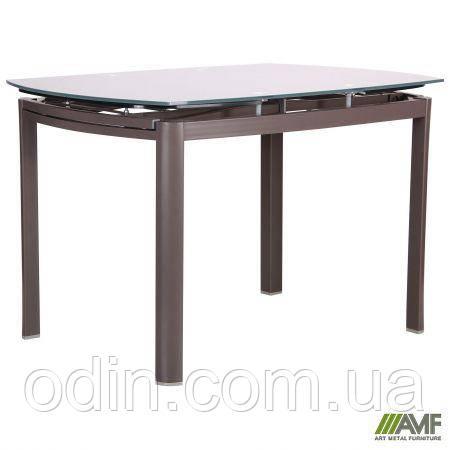 Стол обеденный раскладной Кассандра B179-71 серый/стекло платина 521254