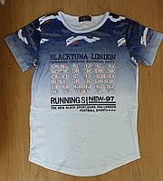 Удлиненная футболка для мальчика, р.140