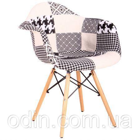 Кресло Salex FB Wood Patchwork черно-белый 521789