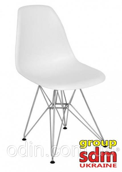 Стул Тауэр, хромированный, пластик, цвет белый SDM16Wh