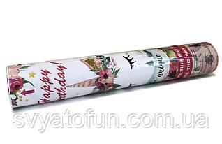 """Хлопушка """"Единорог"""" цветы 30см"""