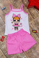 Детская летняя пижама топ и шорты с модным накатом лол