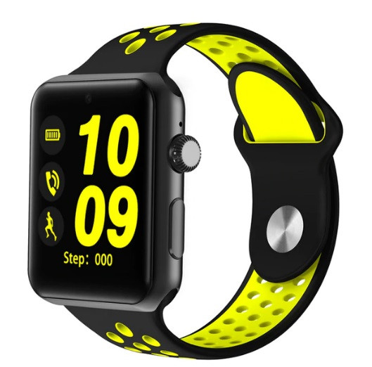 Смарт-годинник Smart Watch Lemfo LF07 plus (DM09 plus) black-yellow