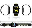 Смарт-годинник Smart Watch Lemfo LF07 plus (DM09 plus) black-yellow, фото 5