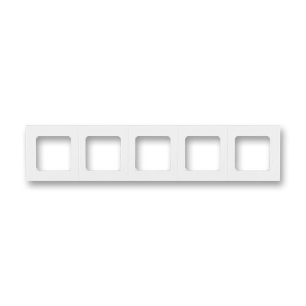 Рамка 5 постова, білий/білий 3901H-A05050 03, Levit Elektro-Praga ABB