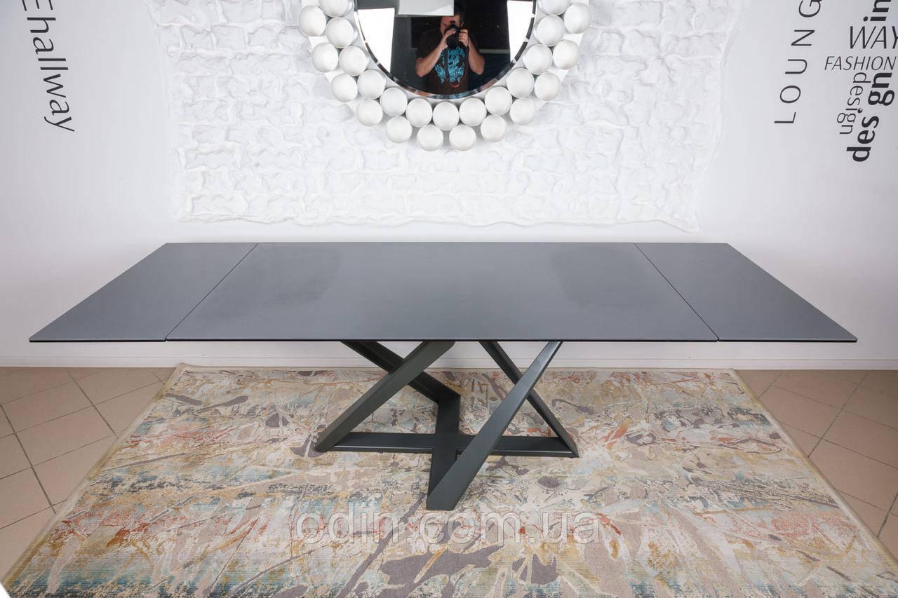 Стол Флитвуд Nicolas раскладной мокрый асфальт керамика