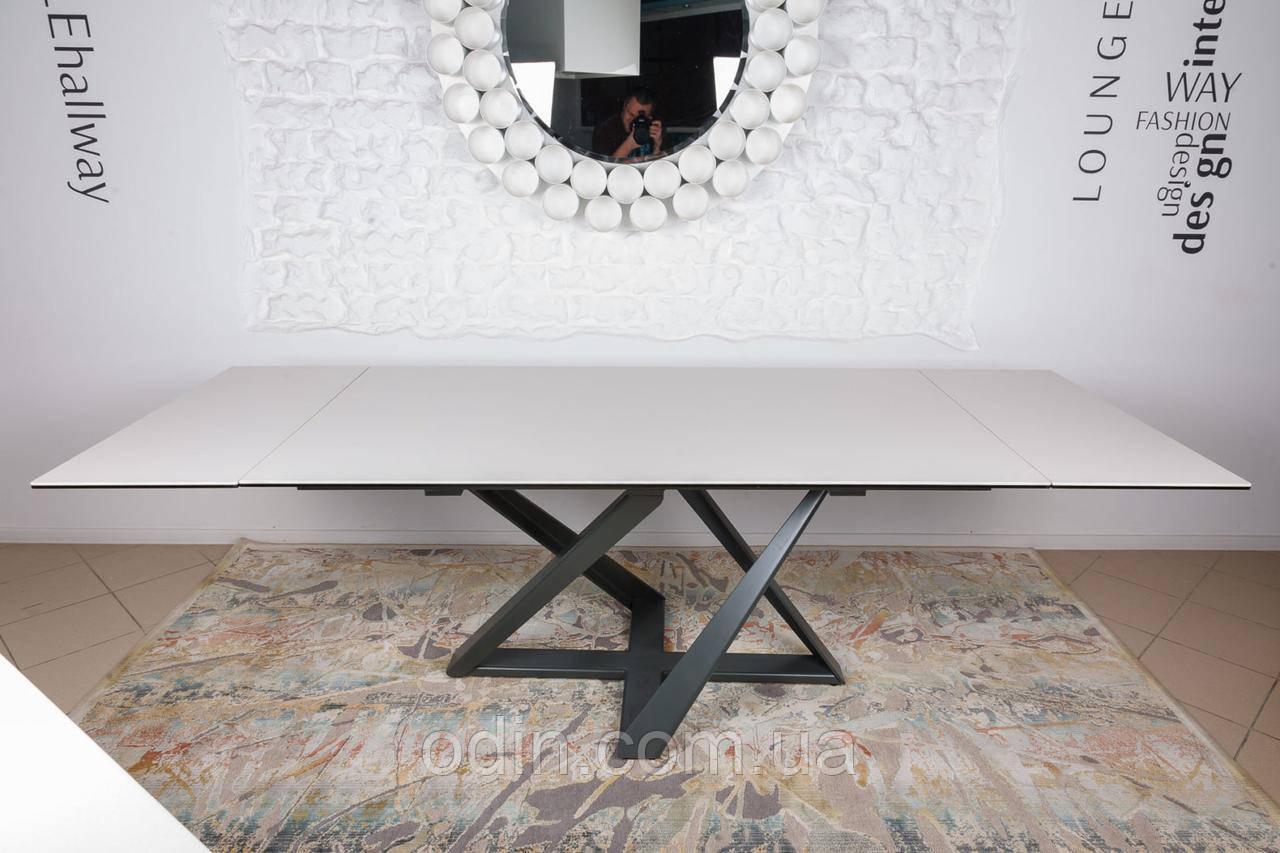 Стол Флитвуд Nicolas раскладной молочный керамика
